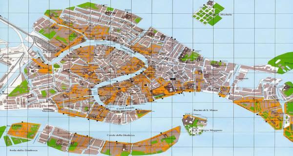 Cartina Venezia Dettagliata.Cartina Di Venezia Mappa Turistica Centro Storico