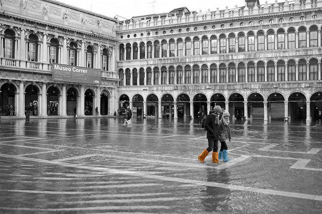 Venezia a marzo acqua alta