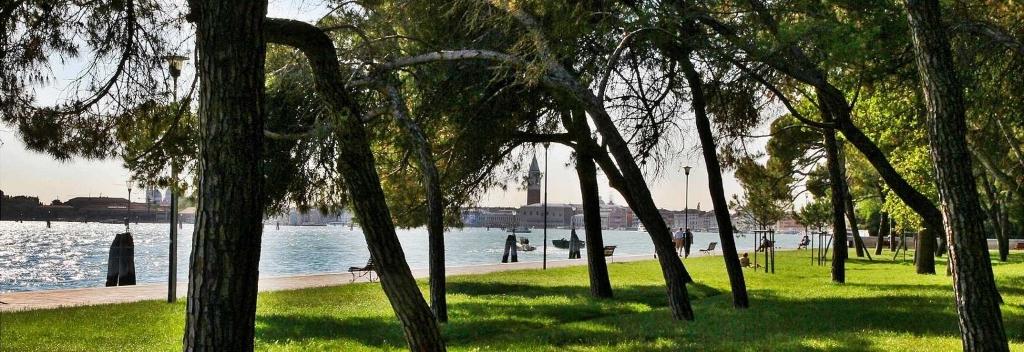 Vista della laguna di Venezia dal Parco Sant'Elena