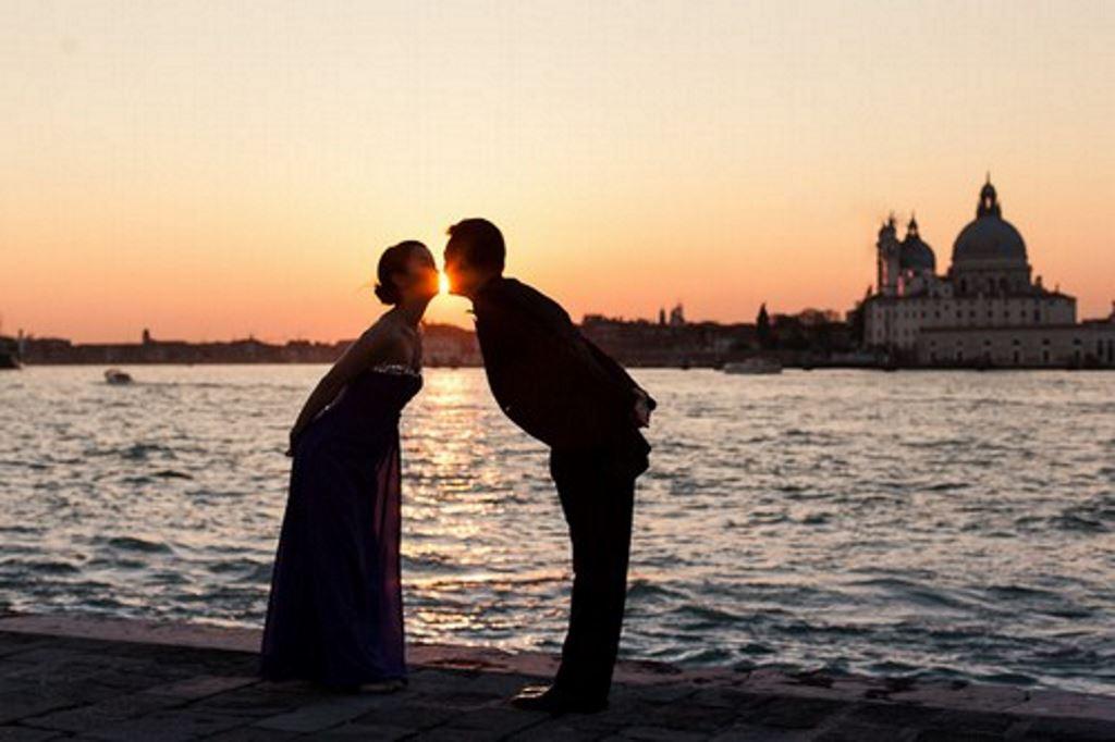 tramonto a Venezia 8 dicembre