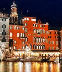 Venezia a dicembre vista dell'hotel Rialto