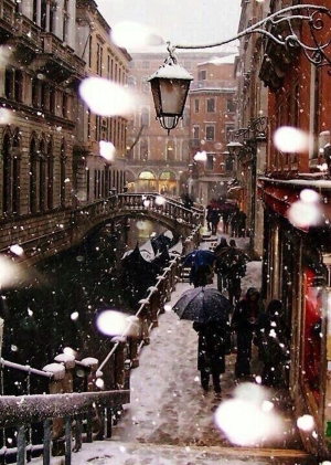 Venezia con neve