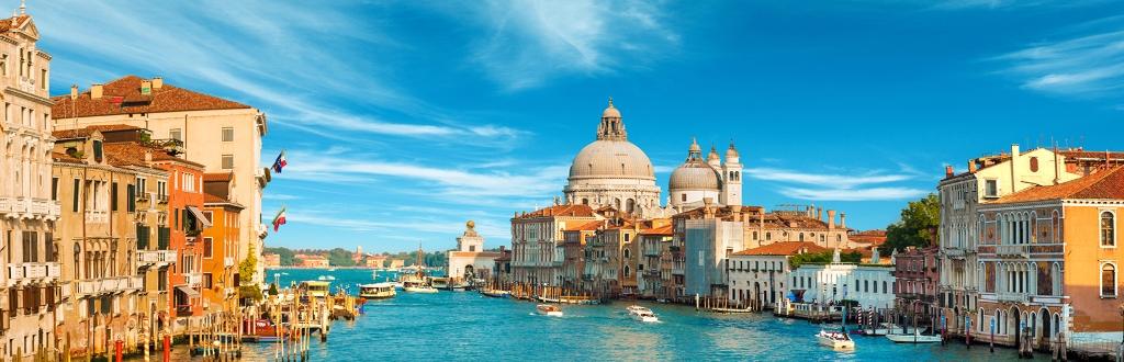 Panorama sul canale di Venezia