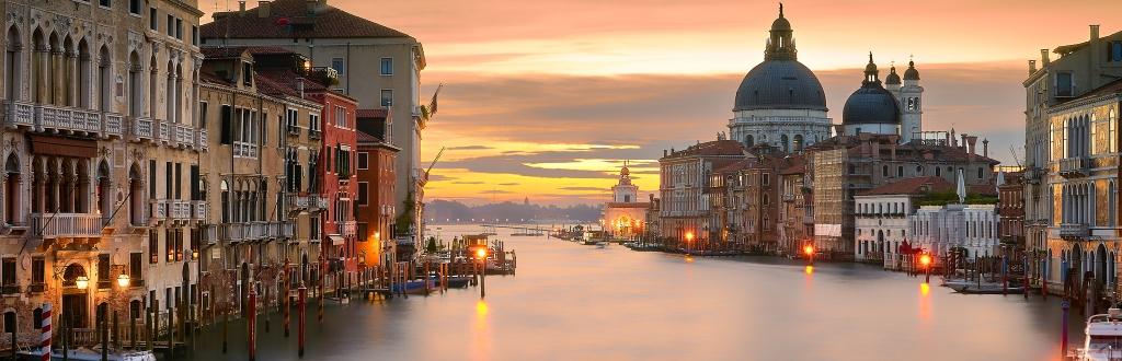 Venezia a gennaio panorama sul canale